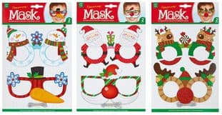PREMIER AC195285  2 Asst Santa Reindeer Craft Mask Kit